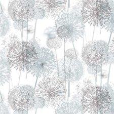 65x140cm Restje tafelzeil bloempluisjes grijs/taupe