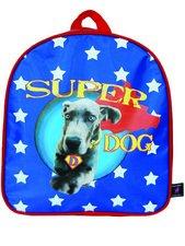 Rugtas Kunstboer superdog blauw