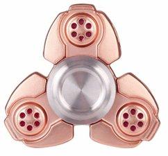 Luxe metalen fidget spinner brons (zware kwaliteit)