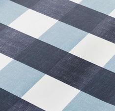 Ovaal tafelzeil blokken blauwtinten