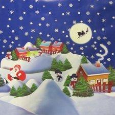 Kerst tafelzeil kerstsfeer donkerblauw