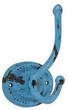 Vintage kapstok haak brocant blauw