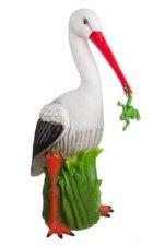 Figuurlamp ooievaar met kikker 41cm hoog