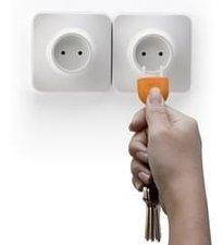 Qualy unplug sleutelhanger oranje