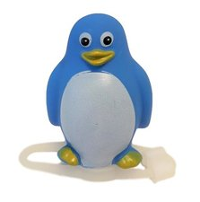 Blauwe pinguin fietslamp/fietstoeter