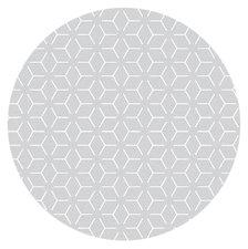 Rond tafelzeil geometrisch grijs (140cm)