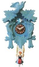 Houten koekoeksklok met geluid (blauw)