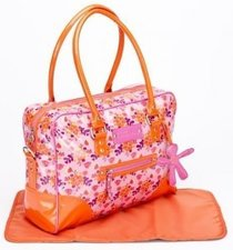 Luiertas Little Company lc today glossy roze/oranje