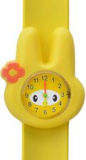 Kinderhorloge flower bunny geel
