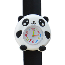 Kinderhorloge cute panda zwart/wit