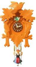 Houten koekoeksklok met geluid (oranje)