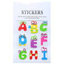 Stickers letters a t/m i