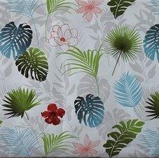 65x140cm Restje tafelzeil Botanische bladeren en bloemen