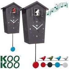 KooKoo Birdhouse klok zwart (koekoeksklok)