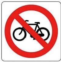 Pictogram sticker Verboden voor fietsen