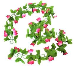 Bloemenslinger fietsslinger bloemen roze/wit