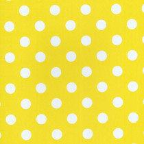 45x140cm Restje tafelzeil polkadots geel