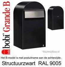 Brievenbus Bobi Grande B structuurzwart RAL 9005