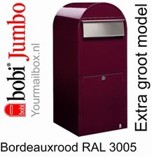 Brievenbus Bobi Jumbo bordeauxrood RAL 3005