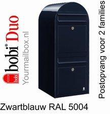Brievenbus Bobi Duo zwartblauw RAL 5004