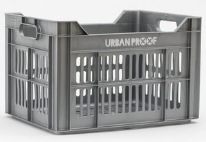 Urban Proof fietskrat zilver grijs