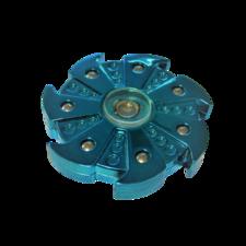 Bijzondere fidget spinner blue ninja 7 blades