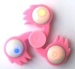 Fireball LED spinner roze