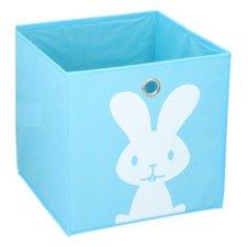 Opbergmand kinderen blauw konijn (28x28cm)