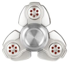 Luxe metalen fidget spinner zilver (zware kwaliteit)