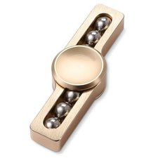 Fidget turbo spinner metaal met kogeltjes brons