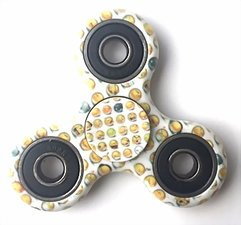 Fidget spinner smiley wit