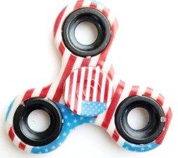 Fidget spinner USA zwart
