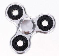 Fidget spinner metallic zilver