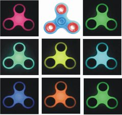 Fidget spinner glow in the dark BLAUW