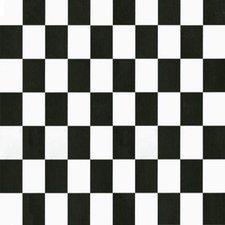 Plakfolie dambord zwart/wit (45cm)