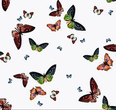Rond doorzichtig tafelzeil vlinders (140cm)