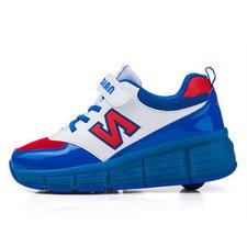 B-keus, Maat 38: schoenen met wieltjes N-blue