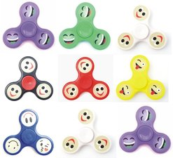 Fidget spinner smiley emoticon (glow in dark)