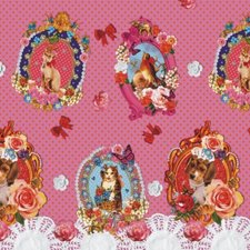 50x140cm Restje tafelzeil tussen Kunst & Kitsch roze