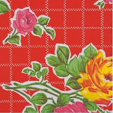 55x120cm Restje Mexicaans tafelzeil rosendal rood