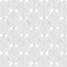 30x140cm Restje tafelzeil leafs abstract grijs