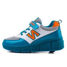 B-keus, Maat 37: schoenen met wieltjes N-green