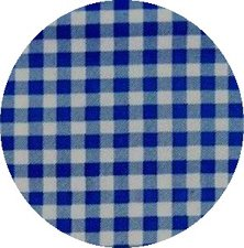 Rond Mexicaans tafelzeil ruitjes donkerblauw (120cm)