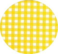 Rond Mexicaans tafelzeil ruitjes geel (120cm)