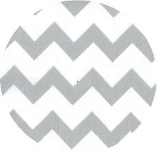 Rond Mexicaans tafelzeil zigzag zilver (120cm)