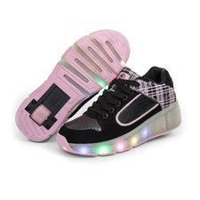B-keus, Maat 37: schoenen met wieltjes skate pink