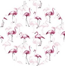 Rond tafelzeil flamingoland roze (140cm)