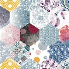 Ovaal tafelzeil patchwork Eden
