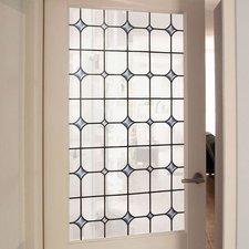 Raamfolie glas in lood wit (45cm)