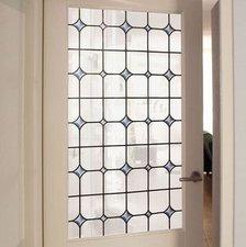 Raamfolie glas in lood wit (90cm)